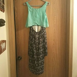Rue21 Dresses - Rue 21 Mint High-Low print dress